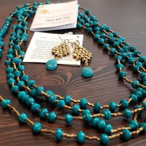 Noonday Collection matching necklace and earrings